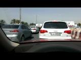 AUDI Q7 Q5  Dubai UAE Эмираты авто преследовании  Jumeirah trafic